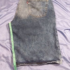 Levi's 569 W40 L12 Shorts Blue Stone Wash Zipper